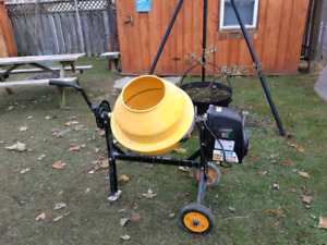 Small cement mixer.
