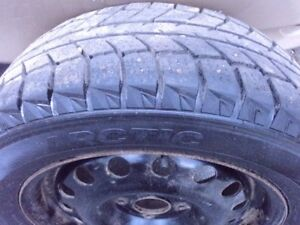 4 Arctic 195 60 R15 studded winter tires (off Ford Focus) 4x108