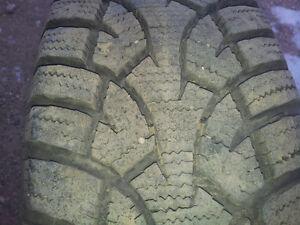 4 P185/70R14 General Altimax Arctic winter tires on rims Moose Jaw Regina Area image 2
