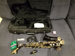 Like New Selman Curved Soprano Saxophone -Black and Gold