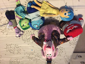 Disney store inside out stuffed toys