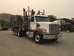 2013 Freightliner 122SD Logging Truck and Quad Trailer