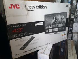 TV 43INCH JVC BRAND NEW FIRTV SMART 4K ULTRA HD HDR