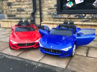Licensed 12v Maserati Alfieri Ride-On,Parental Remote & Self Drive,Limited Stock, Free Numberplate