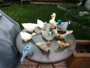 Garden Decor Ornaments Roosters,  Ducks, Frogs MORE