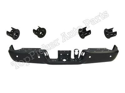 Rear Bumper Black Face Bar Sensor Retainer Smooth For Dodge Ram 2500 2013-2018
