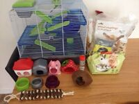 Hamster cage and all acessories!!