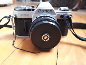 Canon at-1 Camera with Canon 50mm F1.8 FD lens