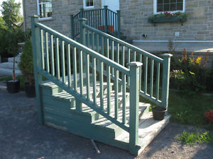 Deck, Entrance, Trailer Stairs