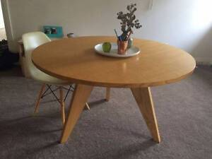 Round dining table, Jean Prouvé Guéridon replica Petersham Marrickville Area Preview
