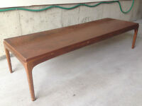 Coffee Table, 1960's Style, Solid Walnut, Needs Refinishing