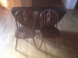 Ercol chairs excellent condition 1960s Fleur des Lys Vintage Retro London Delivery Options N19