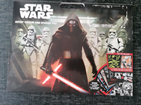 Star wars colouring book and sticker pad