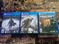 Shadow mordor, watch dogs, minecraft *PS4*