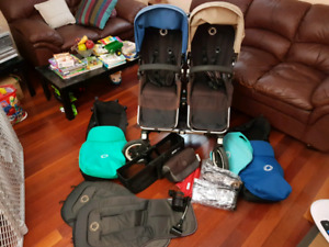 2014 Bugaboo donkey twin/duo + lots of accessories!!!