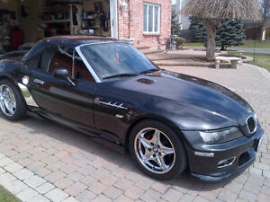 2000 BLACK BMW //M Z3 ROADSTER SUPERCHARGED 2.5L 6cyl 330HP