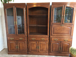 Large Beautiful Wooden 3 Piece Wall Unit