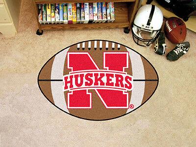 Nebraska Huskers NCAA 22x35 Bath Bedroom Area Door Welcome Football Mat Rug