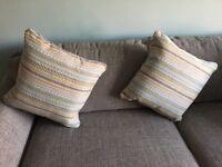 Pair of sofa cushions