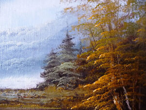 """Original Oil Painting by Phillip Cantrell """"Slow River Afternoon"""" Stratford Kitchener Area image 4"""