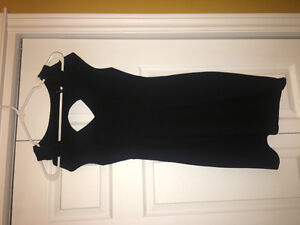 Little Black Dress w/ Cut Out Sleeves - Medium