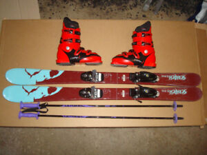Kids Ski Package (Skis, Bindings, Boots, Helmet, Goggles, Poles)