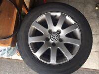 "Genuine set of 4 x VW Passat 15"" Alloys 5x112 Caddy"