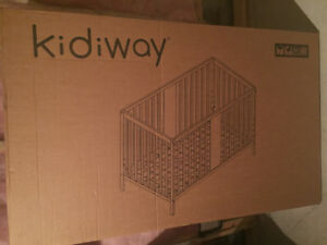 4 in 1 kidiway Crib with Mattress