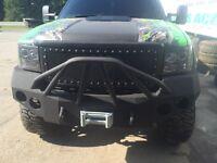 Ironbull bumper GMC with winch. Rhino lined.