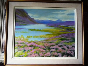 "Orig. British Oil Painting by Billie Appleton, ""Loch Na Craige"""