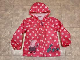 Girls Peppa Pig Waterproof Fleece Jacket 4-5 Years