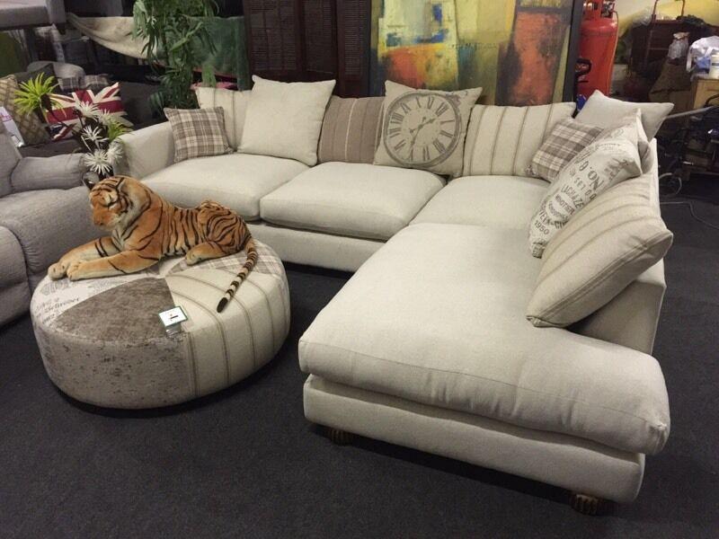 Dfs Voyage Corner Sofa Plus Footstool