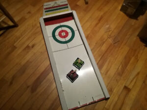Jeu vintage curling white rose en ar co vieux garage retro