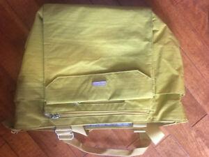 Yellow baggallini tote bag