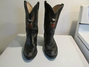 HARLEY DAVIDSON REAL COWHIDE LEATHER BOOTS-MENS-SIZE 10 $60.FIRM