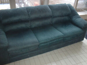 3 SEAT FAUX SUEDE COUCH SOFA