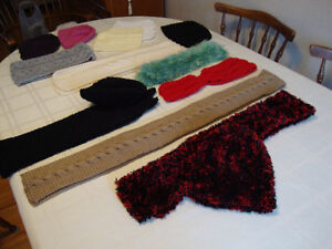 Various Knitted and Crochet Items for Sale