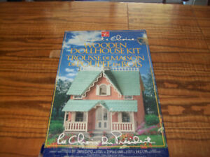 President Choice Wooden Dollhouse Cottage Model Kit New In Box