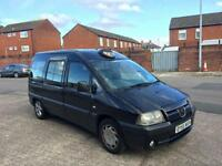 2005 55 PEUGEOT EXPERT TAXI E7 M1 DISPATCH SCUDO BLACK SPARES OR REPAIRS EXPORT