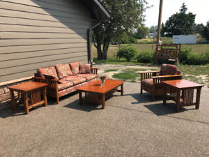 2 Sofas, chair, end tables and coffee table