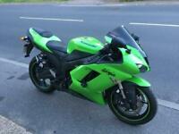 2007 (07) Kawasaki ZX6R P7F 600cc Supersport - Lime Green - FSH - 16693 miles