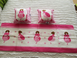 Kids window valances with decorative pillows