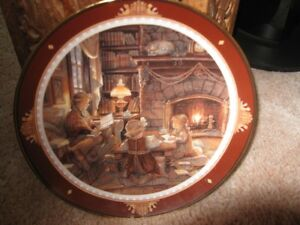 "Trisha Romance Collector plate #7066 ""Christmas at the Cottage"""
