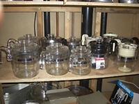 Pyrex Glass Coffee Pots, with Lids