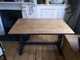 ERCOL VINTAGE STUNNING DINNING ROOM TABLE (PAINTED IN FARROW AND BALL)