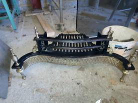 Cast iron brass fire grate
