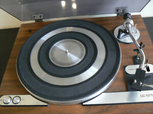 NICE WOOD BASE TURNTABLE $100.00 FIRM or$75.00 w/o cart