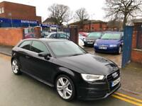 2012 '62' NEW SHAPE! Audi A3 1.6TDI (105PS) 2013MY S Line - BLACK! 3 DOOR!