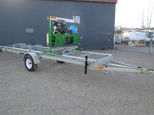 BAND SAW MILL FARMHAWK WITH TRAILER AND POWER SET WORKS 14HP Prince George British Columbia image 6