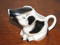 Vintage Figural Pig CREAMER Jug Tony WOOD England, Black